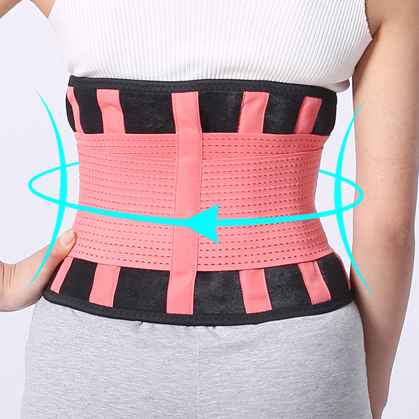 Pink Color Breathable Waist support