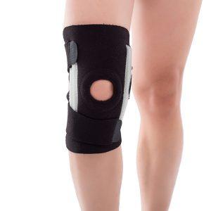 black free size Knee Brace with splint