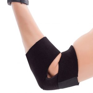 black free size neoprene elbow brace with price