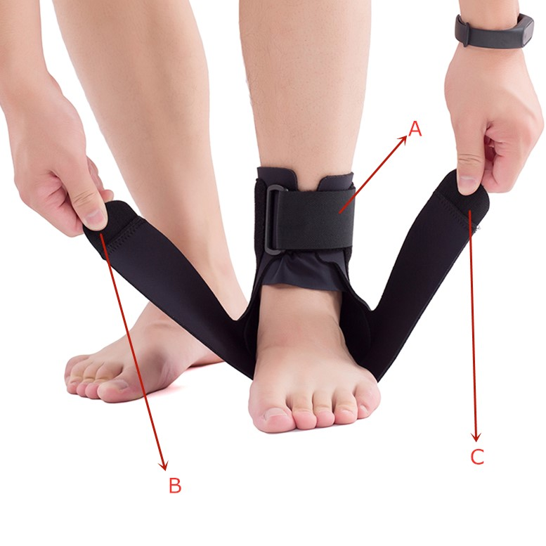 how to use a ankle splint brace